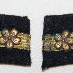 O.052. WWII JAPANESE NAVY LIEUTENANT JUNIOR GRADE COLLAR INSIGNIA