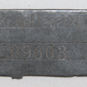 H031. WWII PARTIAL POW ID TAG FROM STALAG 13A