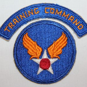 G046. WWII AAF TRAINING COMMAND ARC WITH HEADQUARTERS PATCH