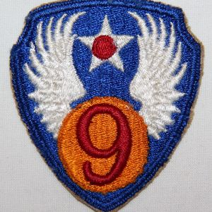G048. WWII AAF 9TH AIR FORCE PATCH