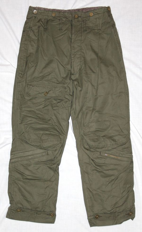 D019. NICE WWII AAF TYPE A-9 FLIGHT TROUSERS