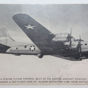 I022. NAMED WWII B-17 POSTCARD FROM AAF SOLDIER TRAINING AT BOEING
