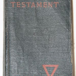 B060. NAMED WWI 1918 YMCA NEW TESTAMENT POCKET BIBLE