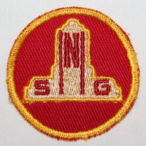 G060. WWII NEBRASKA STATE GUARD EMBROIDERED ON TWILL CAP PATCH