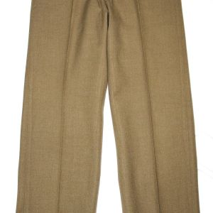 D027. NICE WWII MUSTARD COLOR WOOL COMBAT FIELD TROUSERS