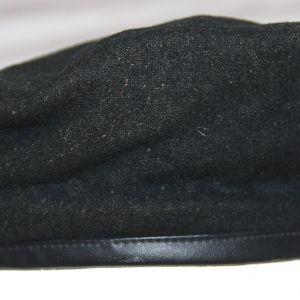 T055. VIETNAM SAIGON MADE BLACK WOOL BERET