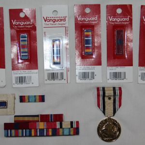 U009. IRAQ, WAR ON TERROR USMC RIBBON BAR AND MEDAL GROUPING
