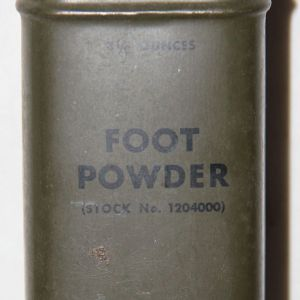 E078. WWII 3 1/2 OUNCE CAN OF FOOT POWDER