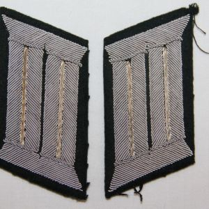 O.086. WWII GERMAN ARMY INFANTRY OFFICER COLLAR TAB SET