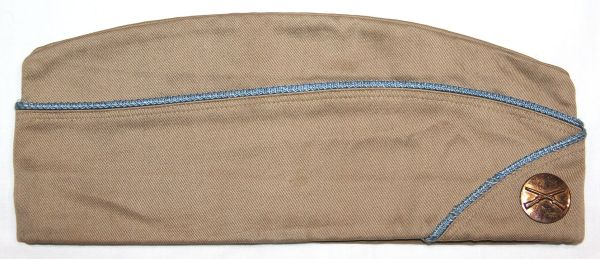 C024. WWII INFANTRY PIPED OVERSEAS GARRISON CAP