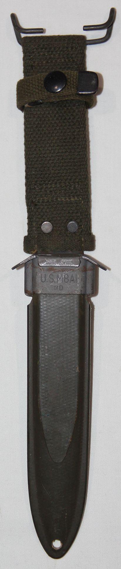 S037. EARLY KOREAN WAR U.S. M8A1 BAYONET OR KNIFE SCABBARD