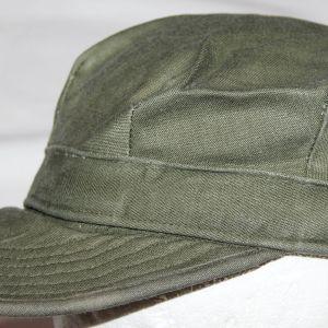 T073. EARLY VIETNAM U.S. ARMY SATEEN FIELD CAP