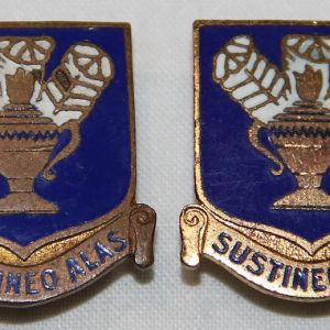 H044. PAIR OF WWII NS MEYER SCREW BACK AAF TECHNICAL TRAINING COMMAND DI'S