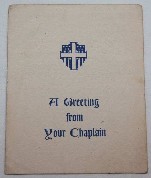 J033. WWII A GREETING FROM YOUR CHAPLAIN BOOKLET