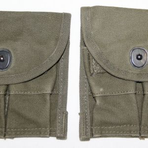 T078. LOT OF 2 VIETNAM STERILE M1 CARBINE AMMO CLIP POUCHES