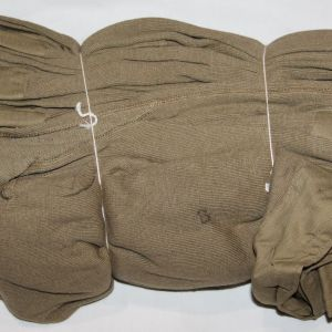 D031. UNISSUED WWII FACTORY BUNDLE OF 5 1943 DATED WINTER LONG UNDERWEAR