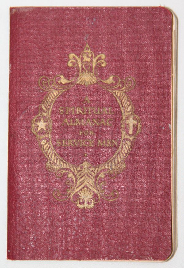 J036. WWII 1944-1945 SPIRITUAL ALMANAC FOR SERVICE MEN