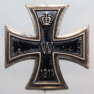 "B099. WWI GERMAN 1ST CLASS IRON CROSS HALLMARKED ""KO"""