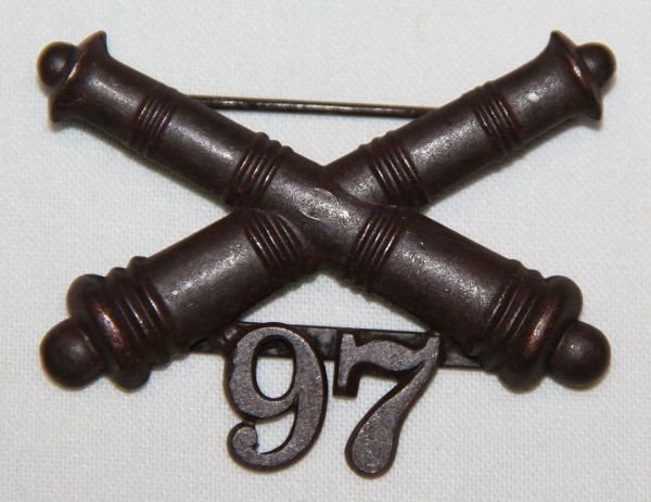 A022. 1903 ERA 97TH COAST ARTILLERY CORPS COLLAR INSIGNIA