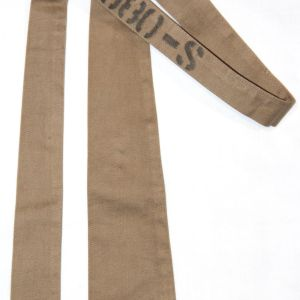 D035. WWII KHAKI COTTON UNIFORM NECK TIE