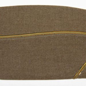 C039. WWII MILITARY POLICE PIPED OVERSEAS GARRISON CAP