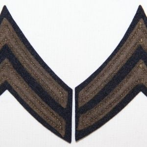 G092. WWII FELT ON FELT CORPORAL CHEVRONS