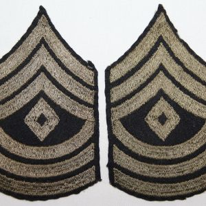G113. WWII EMBROIDERED ON FELT FIRST SERGEANT CHEVRONS