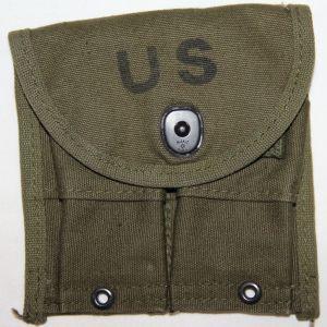 T103. UNISSUED PRE VIETNAM M1 CARBINE AMMO CLIP POUCH