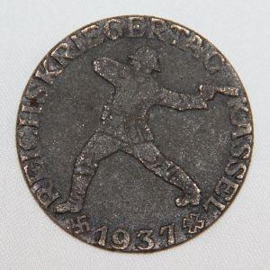 P062. WWII GERMAN REICHSKRIEGERTAG KASSEL 1937 TINNIE