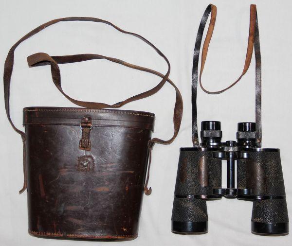 M031. PRE WWII GERMAN LEITZ WETZLAR 7x50 BINOCULARS WITH CASE