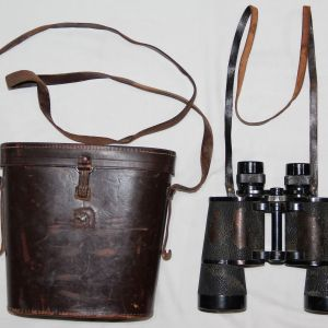 M031. PRE WWII GERMAN LEITZ WETZLAR 7x50 BINOCULARS WITH CASE