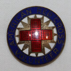 I038. WWII AMERICAN RED CROSS PRODUCTION VOLUNTEER STERLING PIN