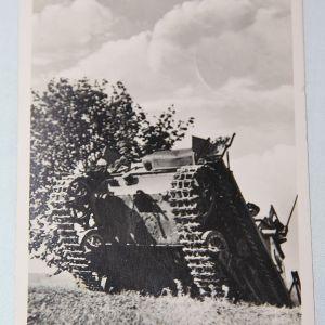 R051. WWII GERMAN PANZER FELDPOST USED POSTCARD