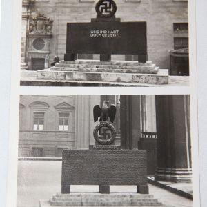 R050. WWII GERMAN MONUMENT FOR FALLEN NSDAP MEMBERS POSTCARD