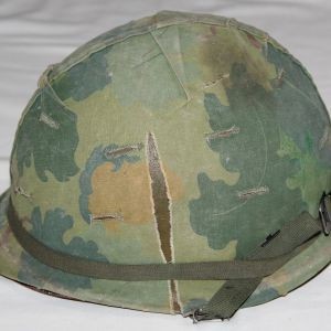 T140. NAMED VIETNAM M1 HELMET SET
