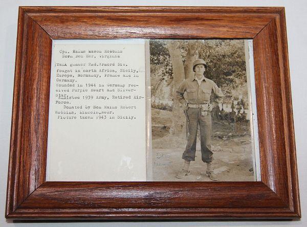 J046. NAMED WWII PHOTO OF SILVER STAR WINNER IN SICILY