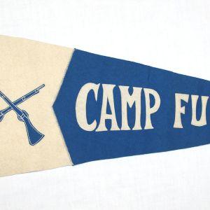 B155. WWI CAMP FUNSTON WOOL FELT PENNANT