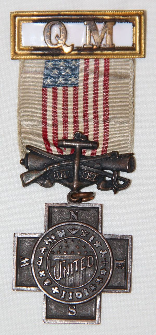 A038. UNITED SPANISH WAR VETERANS CAMP LEVEL QUARTERMASTER MEMBERSHIP BADGE