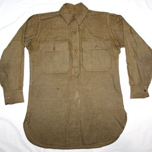 B163. WWI PULLOVER WOOL COMBAT FIELD SHIRT