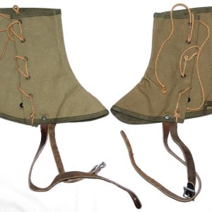 E195. WWII 1945 DATED MOUNTAIN TROOP SKI GAITERS