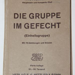 R060. PRE WWII GERMAN 1934 DATED THE GROUP IN BATTLE MANUAL