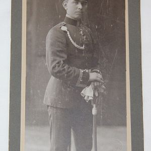B164. PRE WWI 1908 GERMAN SOLDIER CABINET PHOTOGRAPH