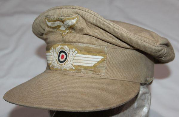 "L042. WWII LUFTWAFFE ""HERMANN MEYER"" TROPICAL VISOR CAP"
