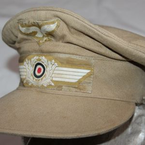 "L042. WWII LUFTWAFFE ""HERMANN MEYER"" TROPICAL VISOR CAP"