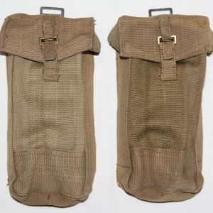 E213. MATCHED PAIR OF WWII BRITISH P37 AMMO POUCHES