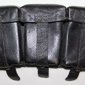 M047. NAMED WWII GERMAN K98 AMMUNITION POUCH