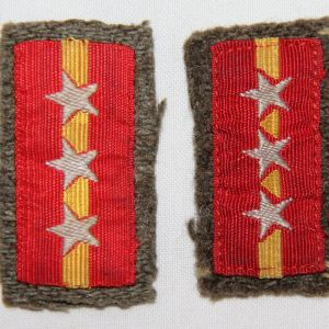 O.103. WWII JAPANESE ARMY SERGEANT MAJOR COLLAR TABS