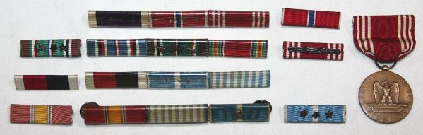 H068. NAMED GOOD CONDUCT MEDAL WITH WWII AND KOREAN WAR RIBBON BARS
