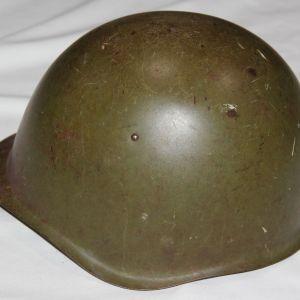 L049. WWII RUSSIAN SSH-39 COMBAT HELMET
