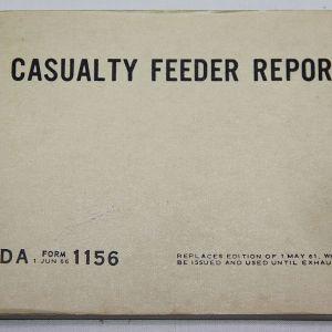 T182. UNUSED VIETNAM 1966 DATED CASUALTY FEEDER REPORT BOOKLET